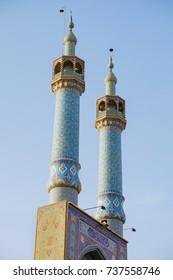 high colum(minaret) of kabir Jameh Mosque, Jame Mosque of Yazd, Iran