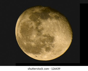 High contrast color image of the moon.
