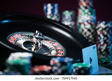 high contrast image of casino roulette,