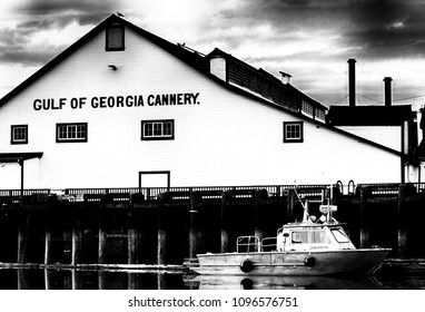 High Contrast. This picture was taken at Steveston, BC, Canada on May 19, 2018, of the fishing fleet on the Fraser River. Located in Richmond BC, Steveston is a historic salmon canning center.