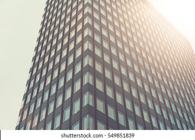 high contrasted skyscraper with sunlight
