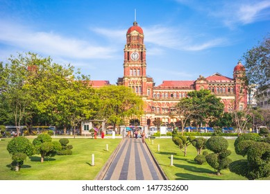 High Court building in Yangon, Myanmar, Bruma