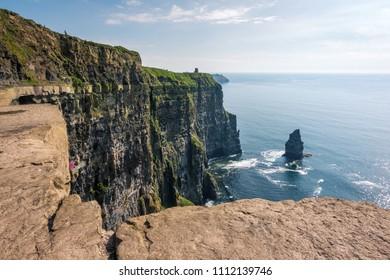 High danger cliffs view in Ireland