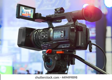 High definition cinema camera on a movie set