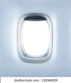 high definition empty aircraft's porthole