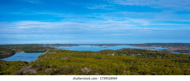 High definition panorama of Swedish coastal landscape taken with a Fujifilm camera