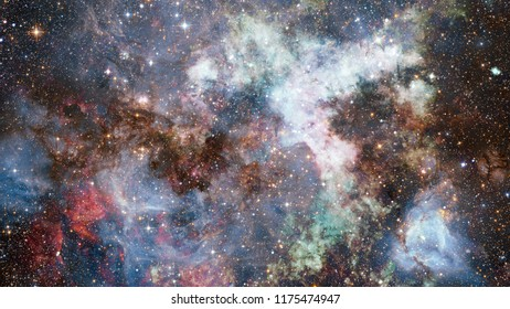 High definition star field background. Starry outer space background. Colorful starry night sky. Outer space background. Elements of this image furnished by NASA.