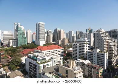An high density residential area along Sukhumvit road, the heart of modern Bangkok.