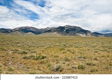 The High Desert of Idaho in the Pahsimeroi Valley bordered by the Lemhi Mountains.