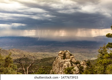 High Desert Monsoon with Lightning Strikes - Mount Lemmon, Arizona