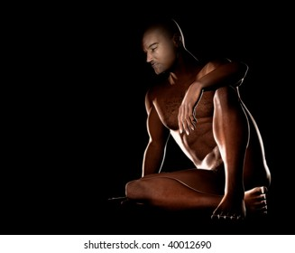 High detailed 3d render of a nice nude man