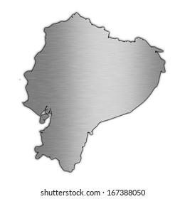 High detailed illustration aluminum map - Ecuador