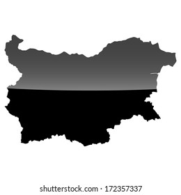 High detailed illustration map with piano effect - Bulgaria