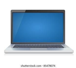 High detailed laptop. Raster version.