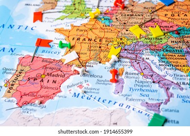 High detailed political map of Europe