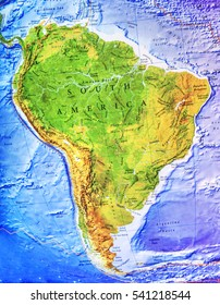 Brazil Topographic Map Stock Photos Images Photography Shutterstock