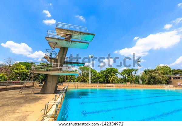 High Diving Board Public Swimming Pool Stock Photo (Edit Now ...