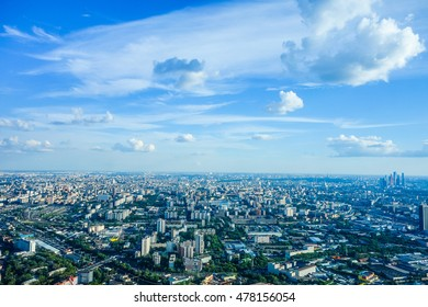 High dynamic range (HDR) Aerial view of the city of Moscow, Russia