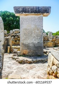 High dynamic range (HDR) Ancient archeological ruins in Torralba den Salord, Minorca, Spain