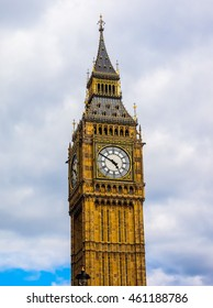 High dynamic range HDR Big Ben at the Houses of Parliament aka Westminster Palace in London, UK