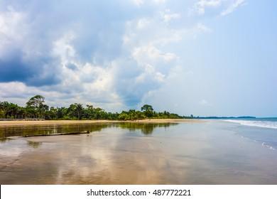 High dynamic range (HDR) Bome beach in Bata in Equatorial Guinea