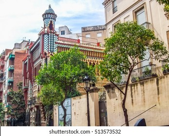 High dynamic range (HDR) Casa Vicens in Barcelona Spain was first important work by architect Antoni Gaudi