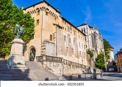 High dynamic range (HDR) Castle of the Dukes of Savoy and Holy Chapel in Chambery France