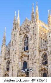 High dynamic range (HDR) Duomo di Milano gothic cathedral church Milan Italy