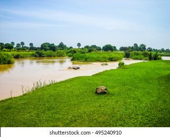 High dynamic range (HDR) The Kaduna River in Kaduna Nigeria