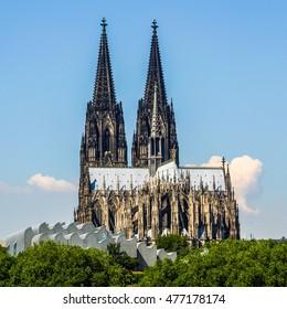 High dynamic range HDR Koelner Dom (Cologne Cathedral) in Koelne, Germany
