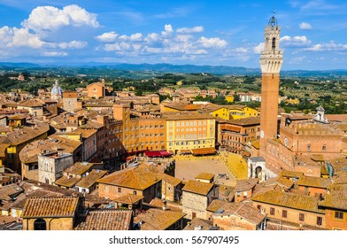 High dynamic range (HDR) Piazza del Campo square in Siena, Italy