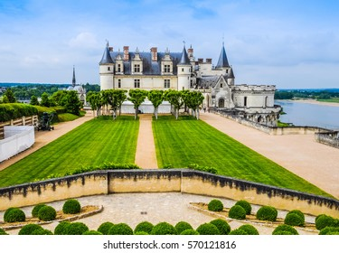 High dynamic range (HDR) Royal Chateau in Amboise in the Indre et Loire departement of the Loire Valley in France