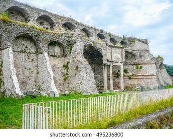 High dynamic range (HDR) Ruins of Temple of Fortuna Primigenia in Palestrina, Italy