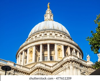 High dynamic range HDR St Paul Cathedral in London United Kingdom (UK)