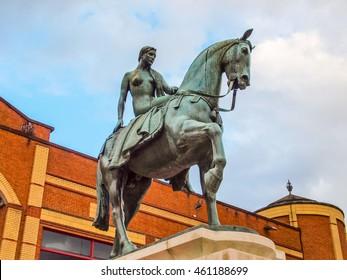 High dynamic range HDR Statue monument of Lady Godiva, Coventry, UK