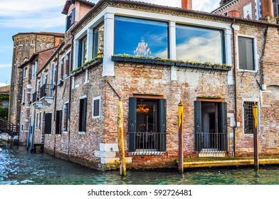 High dynamic range (HDR) The Venice Lagoon in Venezia in Italy