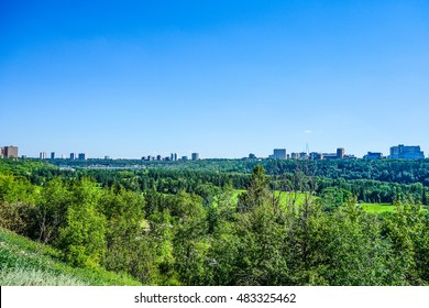 High dynamic range (HDR) View of the city of Edmonton in Alberta Canada