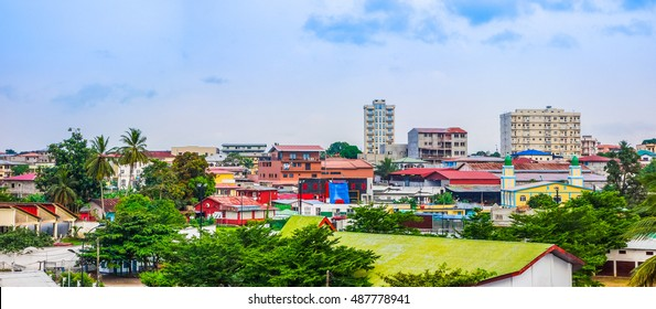 High dynamic range (HDR) View of the city of Bata in Equatorial Guinea