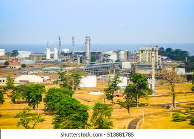 High dynamic range (HDR) View of the city Of Malabo Sipopo in Equatorial Guinea