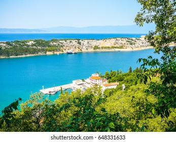 High dynamic range (HDR) View of the city of Omisalj in the island of Krk Croatia