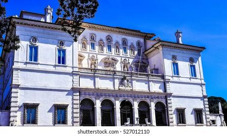 High dynamic range (HDR) Villa Borghese Pinciana, Pincian Hill, Rome, Italy