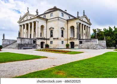 High dynamic range (HDR) The Villa La Rotonda aka Villa Capra in Vicenza Italy was designed by Palladio in 1567