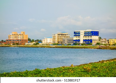 High dynamic range (HDR) Waterfront in the city of Bata in Equatorial Guinea
