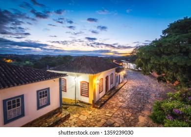 High Dynamic Range Photography during Sunrise in Tiradentes Historic Center, Minas Gerais State, Brazil