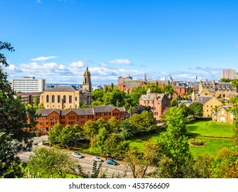 High dynamic range view of the city of Glasgow in Scotland, United Kingdom