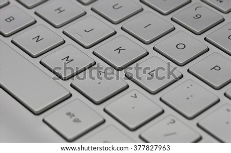 High End Fancy Laptop Computer Grey Stock Photo (Edit Now) 377827963