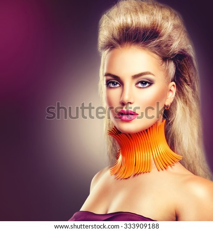 High Fashion Model Girl Mohawk Hairstyle Stock Photo Edit Now
