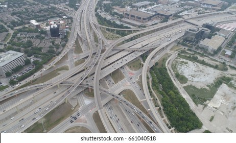 The High Five Interchange is one of the first five-level stack interchanges built in Dallas, Texas. Located at the junction of the Lyndon B. Johnson Freeway and the Central Expressway.