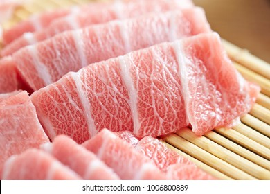 High grade fatty tuna fillet