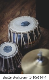 High hat and tabla used to make fusion music with jazz and blues.